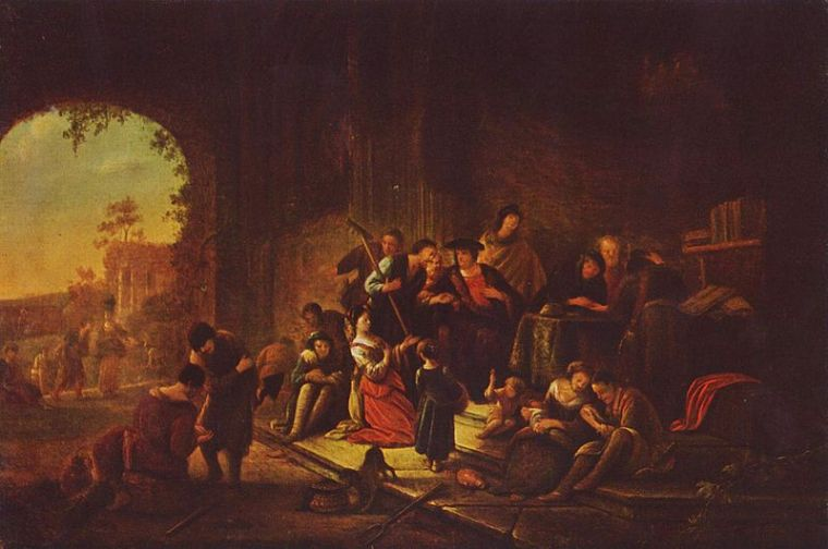 """""""Parable of the Workers in the Vineyard"""" by Jacob Willemszoon de Wet"""